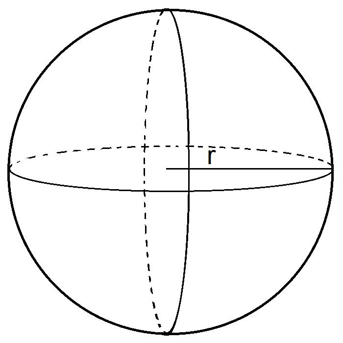 cara menghitung volume bola