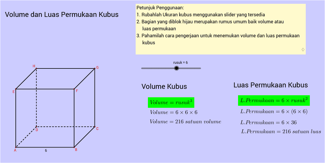 Materi Matematika tentang Cara Menghitung Luas Permukaan Kubus