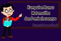 Kumpulan Rumus Matematika